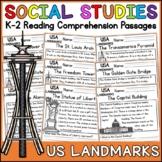 United States Landmarks Reading Comprehension Passages (K-2) - Social Studies