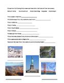 United States Landmarks Research Sheet