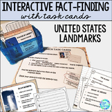 Library Research Task Cards for Library or Classroom U.S. Landmarks
