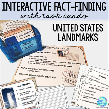 Research Task Cards for Library or Classroom: U.S. Landmarks