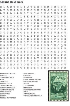 United States (US) Landmarks, Symbols and Memorials Word Search Pack