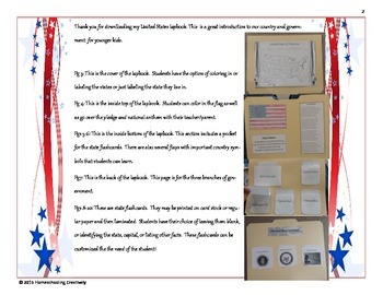 United States Lapbook WITH Flashcards