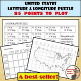 Latitude and Longitude Activity - United States Coordinates Puzzle