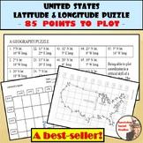 Latitude and Longitude Worksheet - United States Coordinat