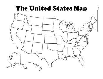 United States Map Worksheet | Teachers Pay Teachers