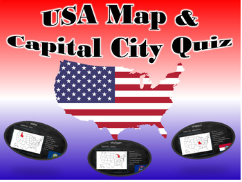 United States Map And Capital City Quiz by Pedro Gonzalez | TpT