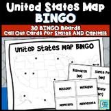 United States Map BINGO