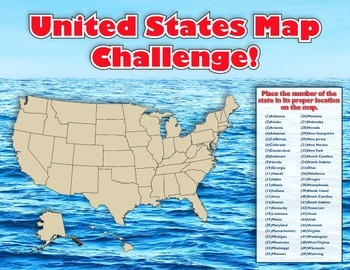 United States Map Challenge!