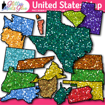 United States Map Clip Art {Social Studies Geography Resources for Teachers}