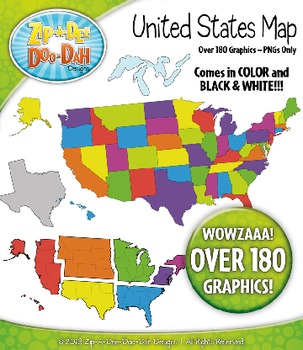 United States Map Clipart Includes States Regions And Great Lakes - Great-lakes-on-the-us-map