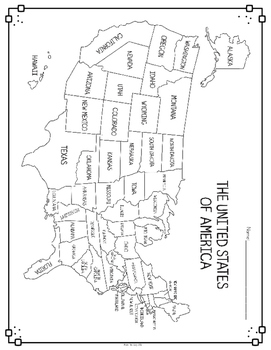 United States Map & Comprehension Questions