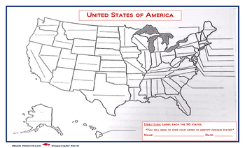 United States Map: Fill in the Blank