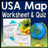 United States Map Quiz & Worksheet: USA Map Test w/ Practice Sheet (US Map Quiz)