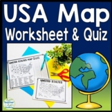 United States Map Quiz & Worksheet: USA Map Test w/ Practice Sheet (US Map Quiz)