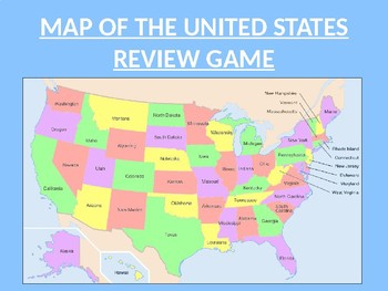 United States Map Review PowerPoint Template by Lynn Izat | TpT