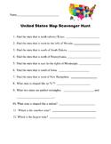 United States Map Scavenger Hunt