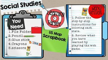 United States Map Scrapbook Activity Google Classroom