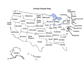 United States Map Study Guide