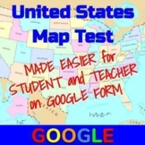 United States Map Test on Google Form