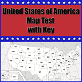United States Map Test with Key