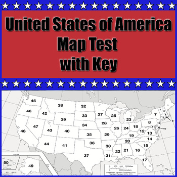 United States Map Test with Key by Making History Great Again | TpT