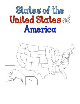 United States Map of Individual States Coloring Book by Durwood | TpT