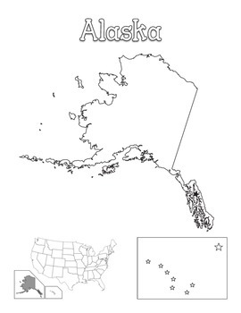 United States Map of Individual States Coloring Book