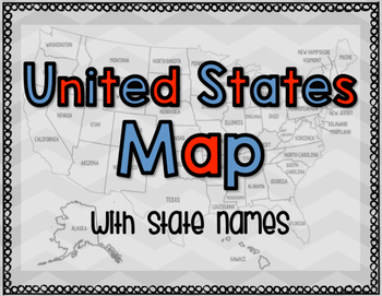 United States Map with State Names