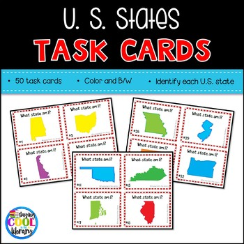 United States Map Task Cards
