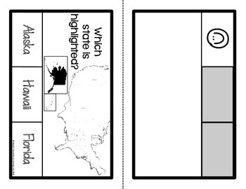 United States Maps - Self-Checking Social Studies Centers