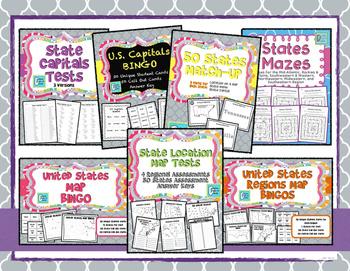 United States Maps & Capitals Bundle