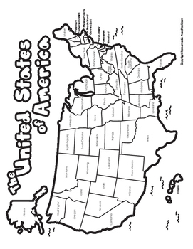 United States Maps - Color, Black and White, Blank