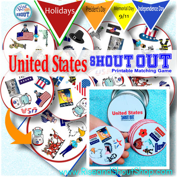 Memorial Day United States SHOUT OUT; Spot the Match Game; Patriotic, Scouts