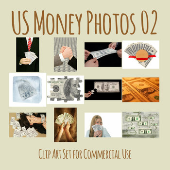 United States Money / US Currency Photo Clip Art Set 2 for Commercial Use
