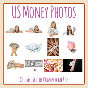 United States Money / US Currency Photo Clip Art Set for Commercial Use