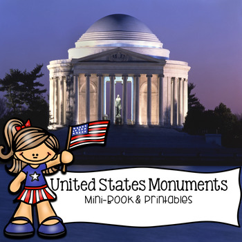 United States Monuments Washington D.C. Mini-Book and Printables