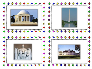United States National Monuments, Historic Sites, and Landmarks Cards