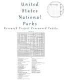 United States National Parks Crossword Puzzle and Research Project