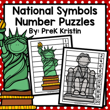 United States National Symbols Skip Counting Number Puzzles By Prek