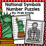 United States National Symbols Skip Counting Number Puzzles