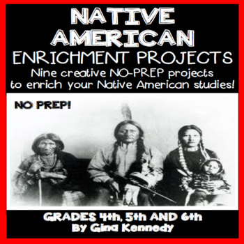 Native American Enrichment Projects for Upper Elementary Students
