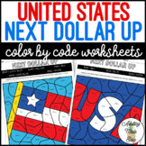 United States Next Dollar Up Color By Code Worksheets