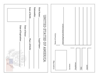United States Passport Template Ready To Print