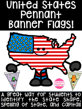 United States Pennant Banner! Great for learning state shapes & capitals!