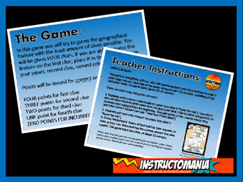 United States Physical Geography Class GAME: World Scavenger Hunt Activity