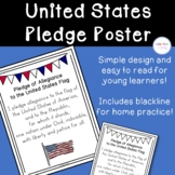 United States Pledge of Allegiance Poster