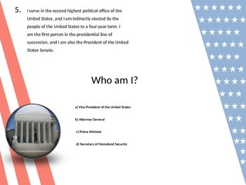 United States Political Figures - Review and Inference Quiz