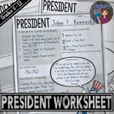 United States President Worksheet