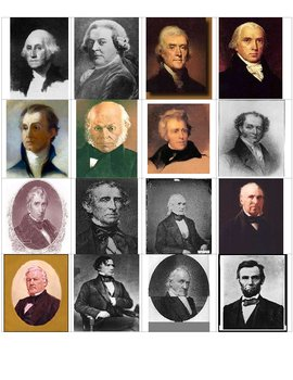 United States Presidents (1-16) Flash Cards – American History I