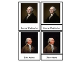 United States Presidents 3 Part Cards